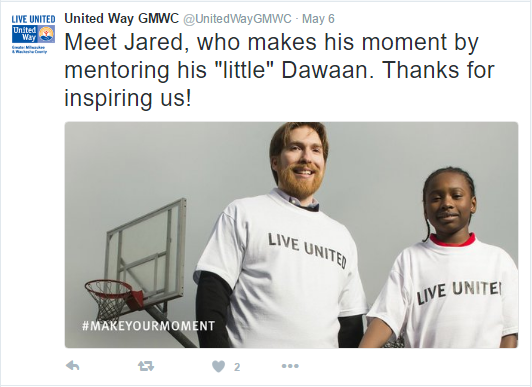 United Way Tweet
