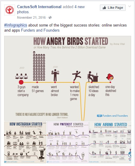 Sharing Infographic on Facebook example