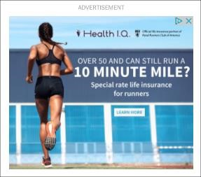 Health I.Q. Runner PPC Ad