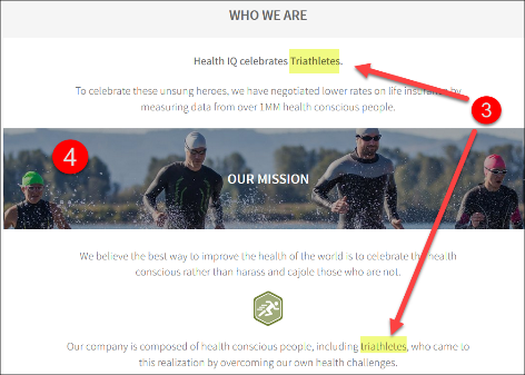 Health I.Q. Triathlete Landing Page