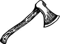 hand-drawn axe