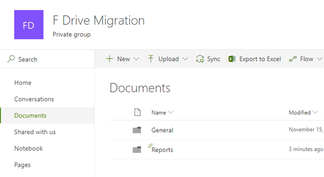 Migration of documents example
