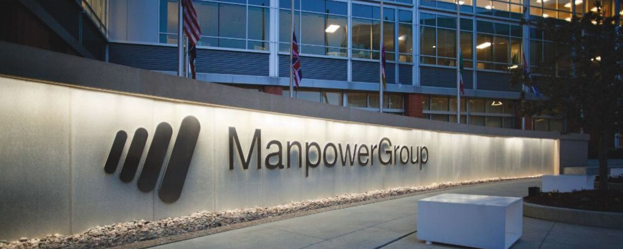 Manpower building and logo